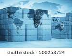 map global logistics... | Shutterstock . vector #500253724