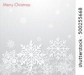 christmas snowflake background | Shutterstock .eps vector #500255668