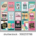 set of social media sale... | Shutterstock .eps vector #500255788