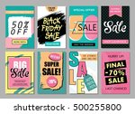 set of social media sale... | Shutterstock .eps vector #500255800