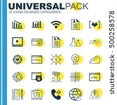 set of 25 universal editable... | Shutterstock .eps vector #500258578