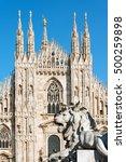 Facade Of The Duomo Di Milano ...