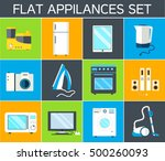 home electronics appliances... | Shutterstock .eps vector #500260093