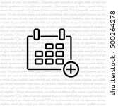 web line icon. calendar | Shutterstock .eps vector #500264278