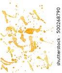 watercolor orange blots  spots  ... | Shutterstock . vector #500268790