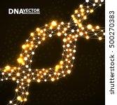 abstract dna spiral  molecule...   Shutterstock .eps vector #500270383