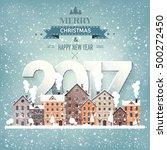 2017. vector illustration.... | Shutterstock .eps vector #500272450