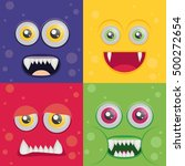 cartoon monster set in flat... | Shutterstock .eps vector #500272654
