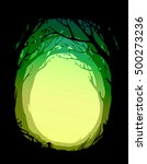 round frame with trees  foliage ...   Shutterstock .eps vector #500273236