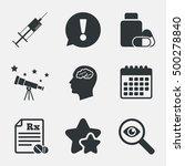 medicine icons. medical tablets ... | Shutterstock .eps vector #500278840