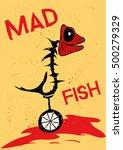 mad fish killer | Shutterstock .eps vector #500279329
