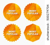 most popular sign icon.... | Shutterstock .eps vector #500279704