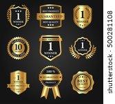 mega set and big group  award... | Shutterstock .eps vector #500281108