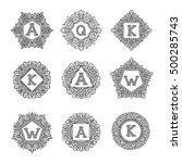 vector sign monogram logo and... | Shutterstock .eps vector #500285743