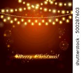 christmas abstract background... | Shutterstock .eps vector #500287603