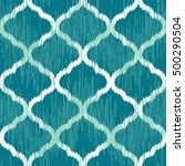 moroccan ikat seamless pattern | Shutterstock .eps vector #500290504