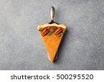 pumpkin pie  tart made for...   Shutterstock . vector #500295520