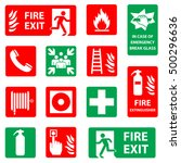 Fire Safety Icon Set. Fire...