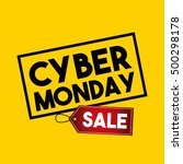 cyber monday sale commerce... | Shutterstock .eps vector #500298178