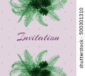 an invitation featuring a... | Shutterstock . vector #500301310