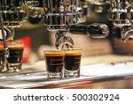 coffee machine make beverage... | Shutterstock . vector #500302924