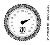 speedometer vector illustration.... | Shutterstock .eps vector #500303188
