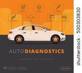 car diagnostics background...   Shutterstock .eps vector #500303830
