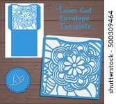 lasercut vector wedding... | Shutterstock .eps vector #500309464