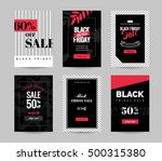black friday sale cards. set of ... | Shutterstock .eps vector #500315380