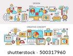 flat vector banners. design.... | Shutterstock .eps vector #500317960