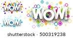 wow colour backgrounds set.... | Shutterstock .eps vector #500319238
