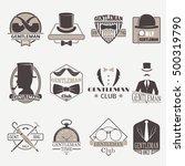 vintage hipster label gentlemen ... | Shutterstock .eps vector #500319790
