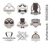 vintage hipster label gentlemen ... | Shutterstock .eps vector #500320816