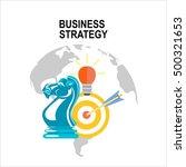 business strategy. vector... | Shutterstock .eps vector #500321653