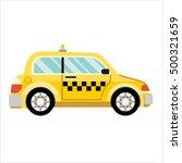 taxi car flat design | Shutterstock .eps vector #500321659