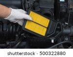 technician is changing new air... | Shutterstock . vector #500322880