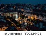 christmas in lisbon | Shutterstock . vector #500324476