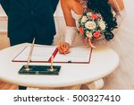 wedding. registration of... | Shutterstock . vector #500327410