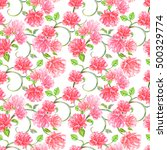 romantic seamless texture with...   Shutterstock . vector #500329774