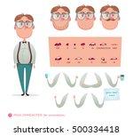 geek character for your scenes... | Shutterstock .eps vector #500334418