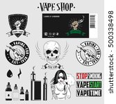 set  for vape shop. vector... | Shutterstock .eps vector #500338498