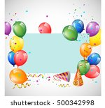 birthday background with... | Shutterstock .eps vector #500342998