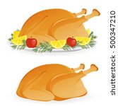 roasted appetizing holiday... | Shutterstock .eps vector #500347210