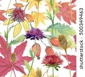 seamless watercolor  pattern... | Shutterstock . vector #500349463