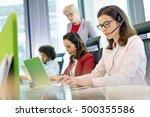 female customer service...   Shutterstock . vector #500355586
