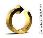 circular arrow. redo  cycle ... | Shutterstock . vector #500361298