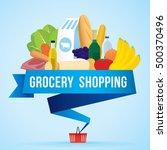 vector illustration of grocery... | Shutterstock .eps vector #500370496