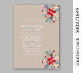 wedding invitation card... | Shutterstock .eps vector #500371849