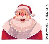 santa claus face  wow facial... | Shutterstock .eps vector #500373316