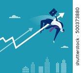 overcome. illustration of a... | Shutterstock .eps vector #500373880